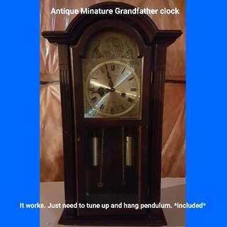 Antique Minature Grandfather clock