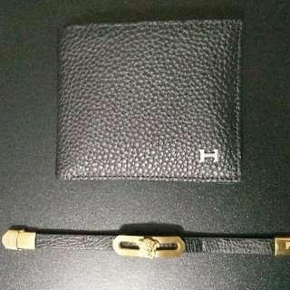Hermes wallet & versace bracelet