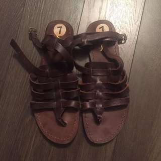 Winners Brown Leather Sandals