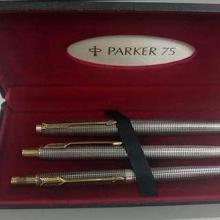 Parking 75 Cisele sterling 3 pen set boxed