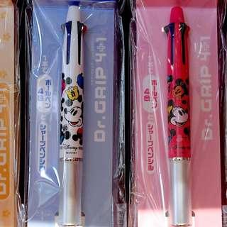 Last Piece Japan Tokyo Disney Resort Disneyland Disneysea Dr Grip 4 + 1 Ballpoint Pen with Mechanical Pencil
