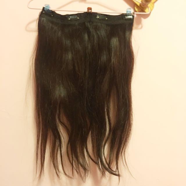 100%真人髮片加厚20吋