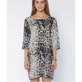 Thrills Python Shift Dress - Yardage