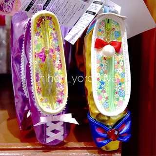 LAST PIECE Japan Tokyo Disneyland Disneysea Disney Resort Princess Rapunzel and Snow White Shoes Pen Case