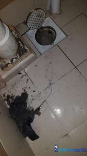 Clogged floor trap/ Clogged drainage pipe/ Clearing floor trap choke (Mr Plumber Singapore) - Plumbing services Singapore