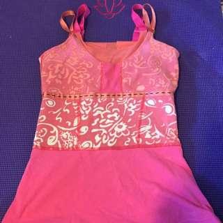 Lulu lemon pink workout tank top