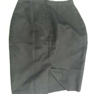 Black Pencil Cut Skirt