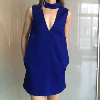 Cameo the label cobalt blue dress with picker