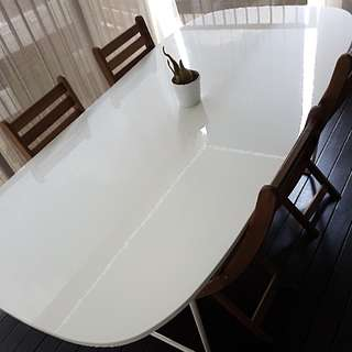 Ikea High Gloss White Dining Table