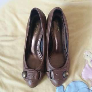 Authentic Leather Coach Wedge shoes