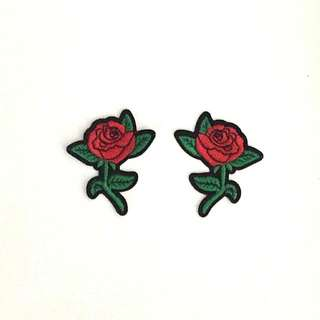 Rose Stalk Iron On Patches