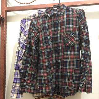 Flanel Uniqlo (Buy two only 150rb)