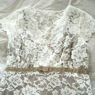 stunning cream/natural dress