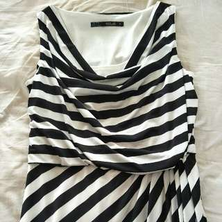 whistle size 10 black and white striped dress