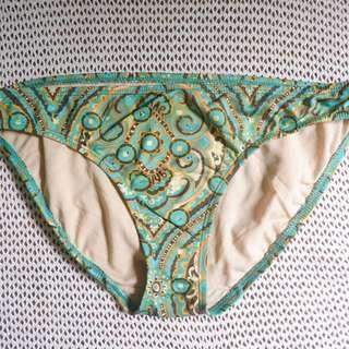 "Abstract Mint Green Bikini Bottom 29"" (Swimwear, Beachwear, Swimsuit)"