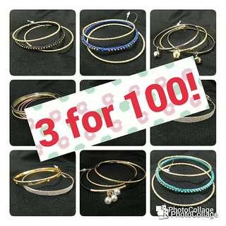 Stylish Bracelets & Bangles (3 For 100)