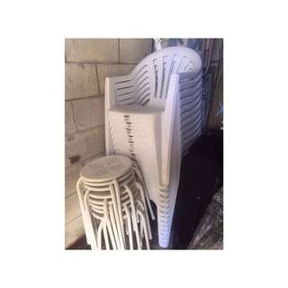 Plastic chairs - stool chair