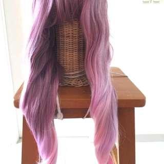 Wig Manreally Gradasi Pink 80cm Wavy