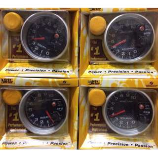 "5"" Autometer Tachometer Sport Comp II w/ Shift Light BLACK & Black Carbon Finishe"