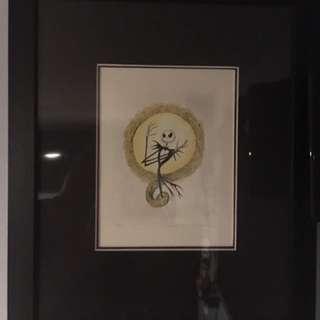Limited Edition Tim Burton Etchings Framed