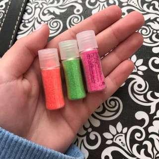 Nail polish shimmer powder