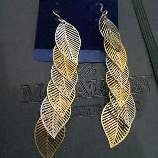 🌿葉子🍃時尚低調款垂吊式耳環