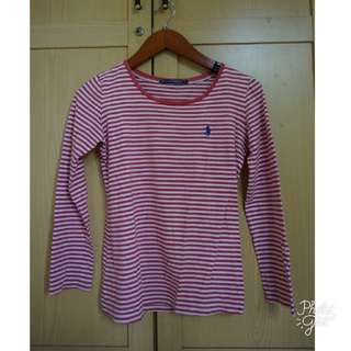 Polo T-Shirt Pink Stripes