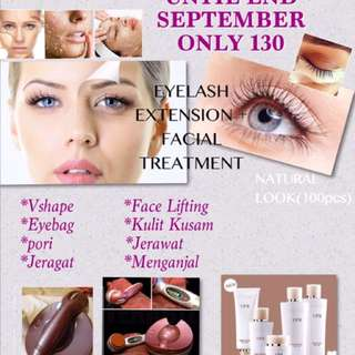 Facial treatment + Eyelash extension