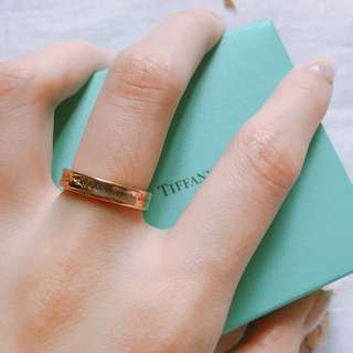 Tiffany & co. 1837 rose gold ring size 5