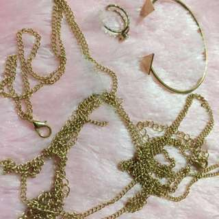Necklace and bangle Gold accesssories