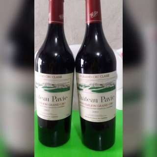 Red wine chateau pavie