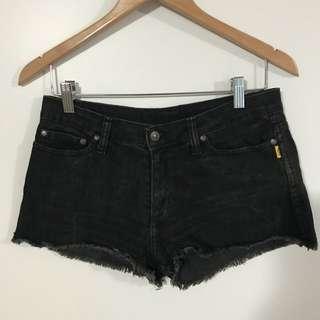 Bettina Liano black denim shorts