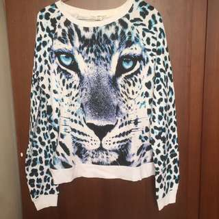 Sweter lion blue