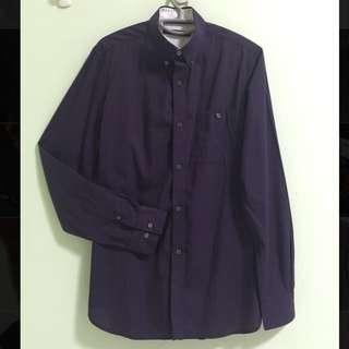 FCUK Purple Checkered Shirt