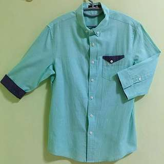 Recoil Turquoise 3/4 Sleeve Shirt