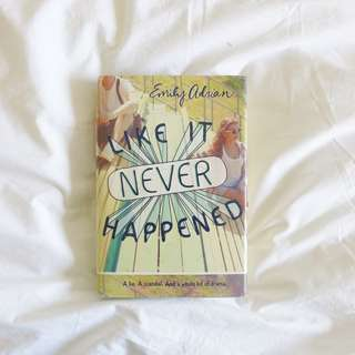 ⌜ hardcover ⌟ Like It Never Happened by Emily Adrian