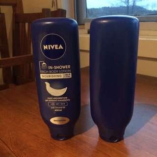 Unopened Nivea in shower lotion