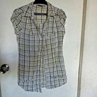 Long Checkered Top S-M