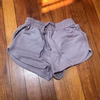 H&M Lavender Runner Shorts