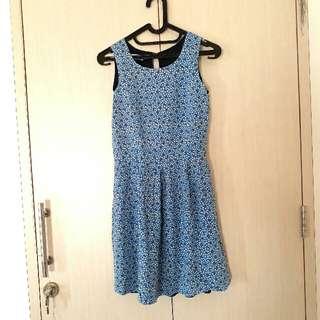 Pull & Bear Dress Blue Bird