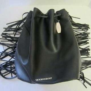 Victoria's Secret Black Fringe Backpack ST 11067913