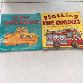 Super submarine and Flashing Fire Engines