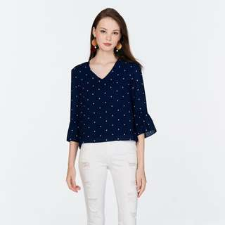 BNWT TCL HADLEY DOTTED TOP IN NAVY