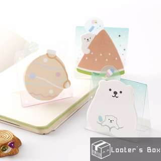 Polar Bear & Watermelon Cute Standing Memo Sticky Note