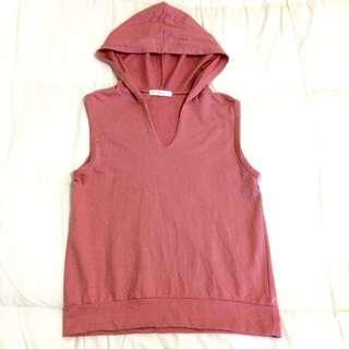 Pink Hoodie Vest