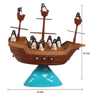 Pirate Boat Balancing Game / Don't Rock the Boat Penguin Game