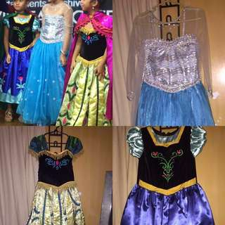 Princess Elsa and Princess anna's gown