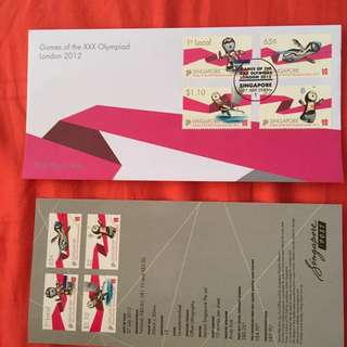 First Day cover- Games of the XXX olympiad. London 2012