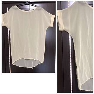 TOP: Translucent Top, Beige by Love Bonito