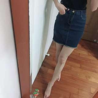 超彈牛仔裙 短裙